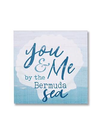 You & Me By The Bermuda Sea Wooden Word Block No Color