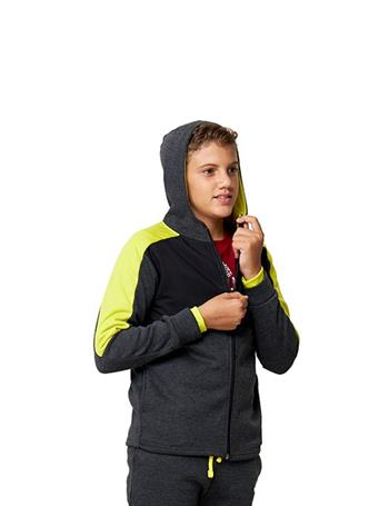 HIND - Full Front Zip up Hoodie CHARCOAL