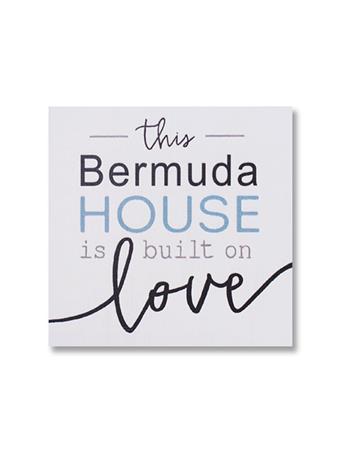 Bermuda Built On Love Wooden Word Block No Color