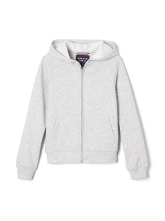FRENCH TOAST - Zip Front Fleece Hoodie HEATHER GREY