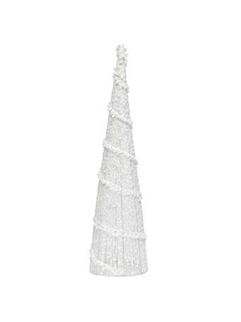 MERAVIC - White Puff Ball Cone Tree (22