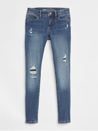 GAP - Kids Destruction Super Skinny Jeans with Stretch INDIGO