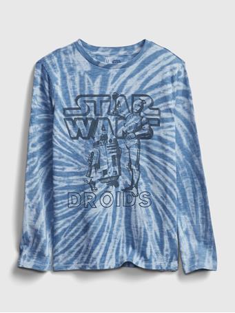 GAP - GapKids | StarWars? Graphic T-Shirt BLUE TIE DYE