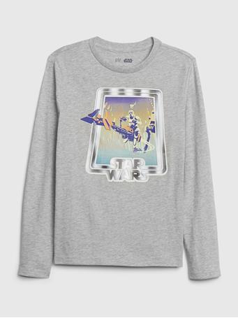GAP - GapKids | StarWars? Interactive Graphic T-Shirt LT HTHR GREY