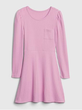 GAP - Kids Ribbed Skater Dress ORCHID PINK