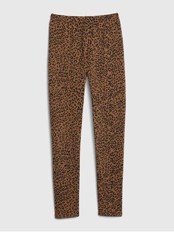 GAP - Kids Print Leggings in Stretch Jersey LEOPARD PRINT
