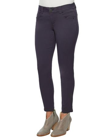 """DEMOCRACY - """"Ab""""solution Ankle Length Colored Jegging MALBEC"""