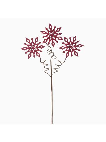 KURT ADLER - Red Snowflake Pick RED