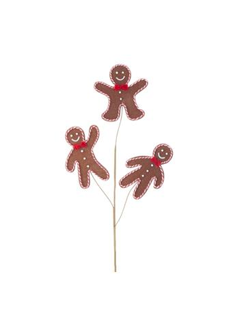 KURT ADLER - Gingerbread Spray BROWN