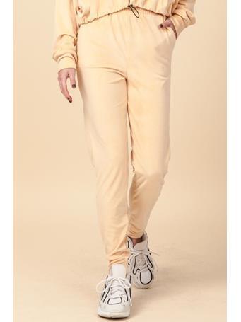 HYFVE - Velour Jogger Pants with Pockets   PEACH