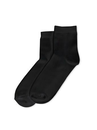 HUE - Super Soft Cropped Sock BLACK