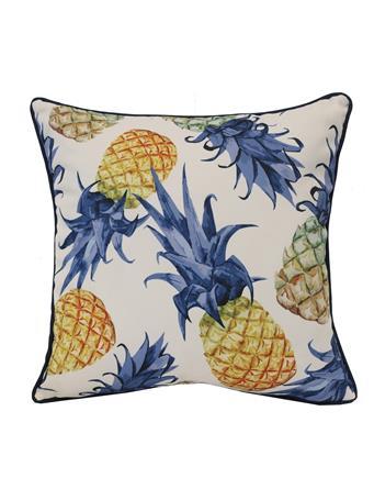 OUTDOOR DECOR - Pineapples Outdoor Decorative Cushion MULTI