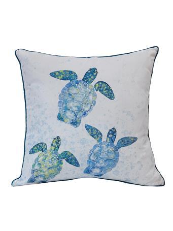 OUTDOOR DECOR - Turtle Race Outdoor Decorative Cushion MULTI