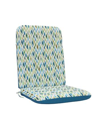 OUTDOOR DECOR - Laguna High Back Chair Pad AUQA