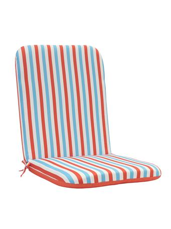 OUTDOOR DECOR - Spicey Coral High Back Chair Pad CORAL