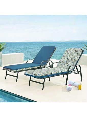 OUTDOOR DECOR - Laguna Lounger Chair Cushion AQUA