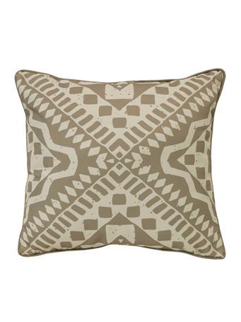 OUTDOOR DECOR - Urban Tribal Outdoor Decorative Cushion TAUPE