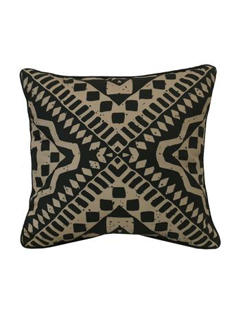 OUTDOOR DECOR - Urban Tribal Outdoor Decorative Cushion BLACK