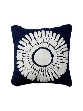 MARINER COTTON - Coastal Burst Decorative Pillow NAVY