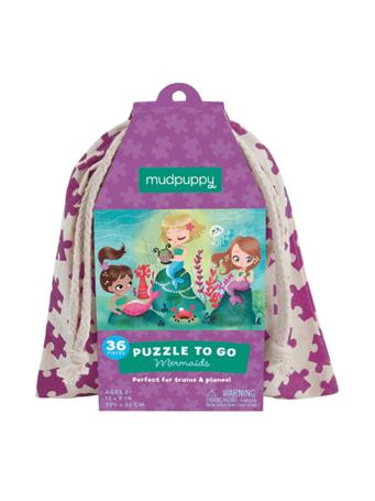 MUDPUPPY - Mermaids Puzzle To Go NO COLOR