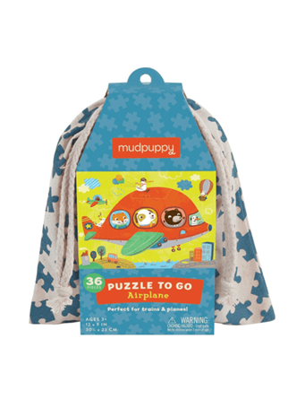 MUDPUPPY - Airplane Puzzle To Go NO COLOR
