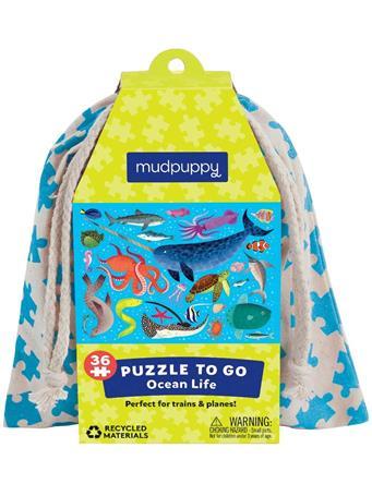 MUDPUPPY - Ocean Life Puzzle To Go NO COLOR