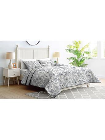 EDEN & WEST - Paisley Bedspread Set GREY