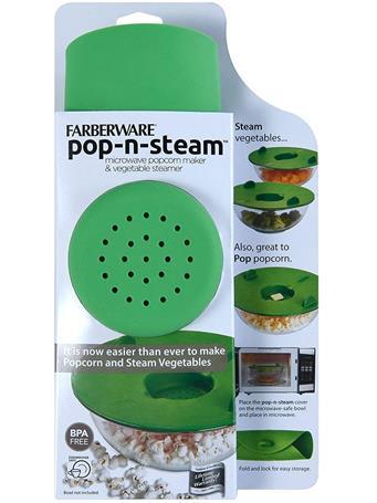 FARBERWARE - Pro Pop-N-Steam Veggie and Popcorn Steamer GREEN