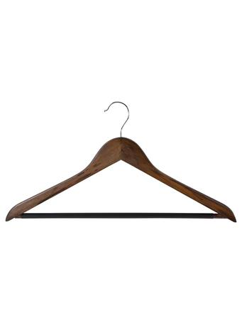 STORAGE ESSENTIALS - Wood Pant Hanger with Bar - 5 Piece Set - Mahogany MAHOGANY