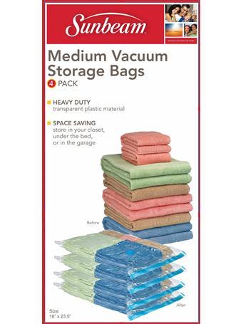 SUNBEAM - Vacuum Bag - Medium - 4 Pieces CLEAR