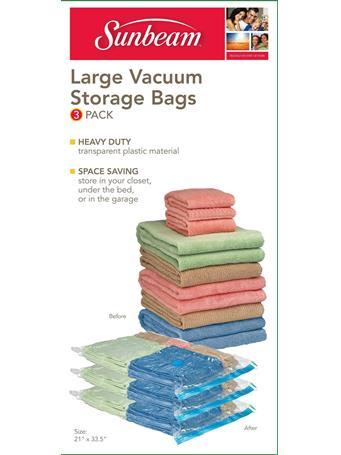 SUNBEAM - Sunbeam - Vacuum Bag - Large - 3 Pieces CLEAR