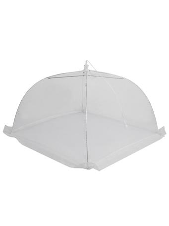 SUNBEAM - Mesh Plate Cover Square With Drawstring WHITE