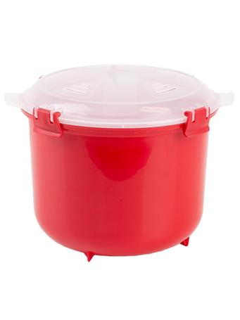 HOME BASICS - Microwave Rice Cooker RED