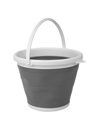 SUNBEAM - Collapsible Plastic Bucket WHITE