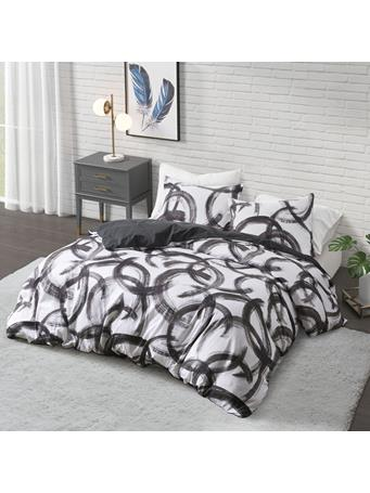COSMOLIVING - Anaya Printed Duvet Cover Set BLACK/WHITE