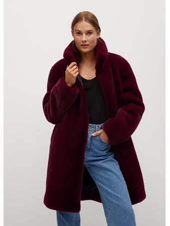 MANGO - Chillyn Coat BRIGHT RED