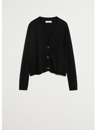 MANGO - Nanty Button Knit Cardigan BLACK