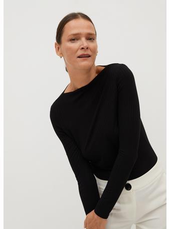 MANGO - Agna T-Shirt BLACK