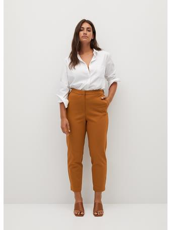 Violeta by MANGO - Core7 Trousers LIGHT BROWN
