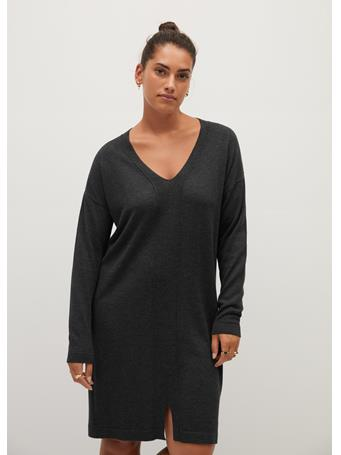 Violeta by MANGO - Agora Dress DARK GREY