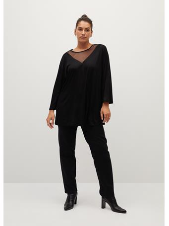 Violeta by MANGO - Arachel T-Shirt BLACK
