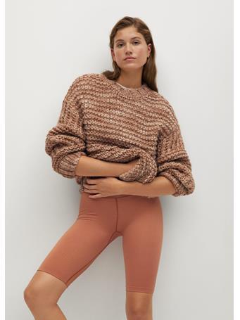 MANGO - Teddy Sweater MEDIUM BROWN