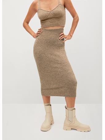 MANGO - Taldora Skirt TAUPE