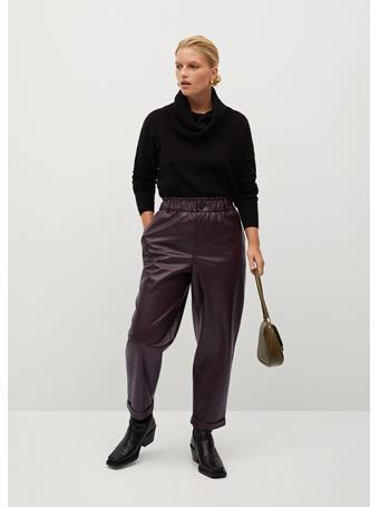 Violeta by MANGO - Skull Trousers DARK RED