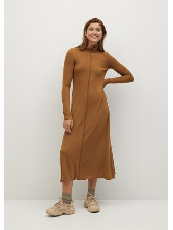 MANGO - Almi Dress MEDIUM BROWN