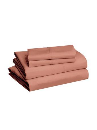 TOWN HOUSE - Microfiber Solid Sheet Set CORK BROWN