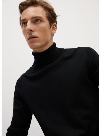 MANGO - 100% Merino Wool Washable Sweater BLACK