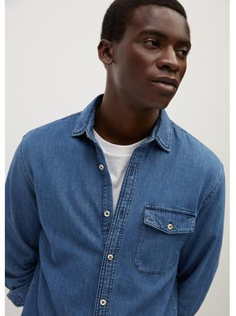 MANGO - Regular-Fit Medium Denim Shirt INDIGO