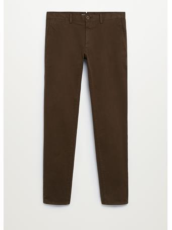 MANGO - Slim Fit Chino Premium Pants LGH BROWN