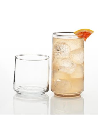 ANCHOR HOCKING - Finlandia 16Pc Drinkware Set CLEAR
